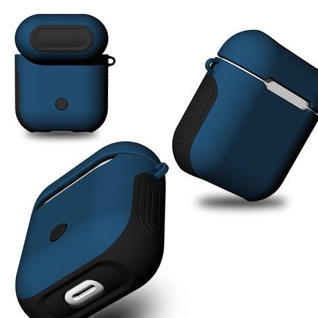 AirPods 1/2 hoesje soft grip - hard case - blauw - Schokbestendig