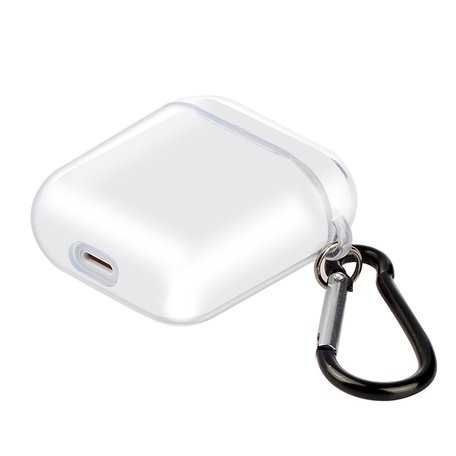 AirPods 1/2 hoesje no series - hard case - Transparant - Schokbestendig