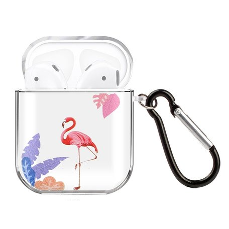AirPods 1/2 hoesje Painting series - hard case - Flamingo - Schokbestendig