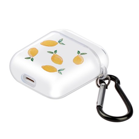 AirPods 1/2 hoesje Painting series - hard case - Lemon - Schokbestendig