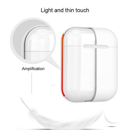 AirPods 1/2 hoesje Liquid series - Siliconen - Geel - Schokbestendig