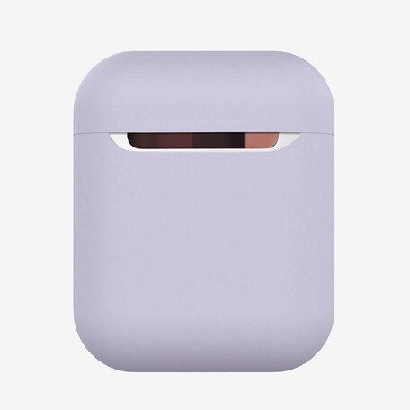 AirPods 1/2 hoesje Liquid series - Siliconen - grijs paars - Schokbestendig
