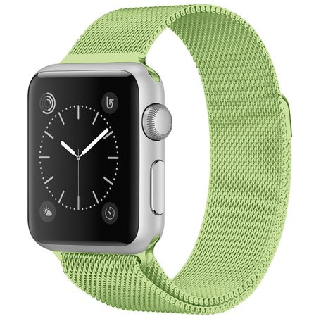 Milanees Apple watch bandje 38mm / 40mm RVS - Groen