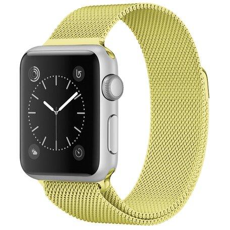 Milanees Apple watch bandje 42mm / 44mm RVS - Olijfgroen