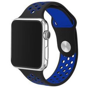 Apple watch sportbandje 38mm / 40mm - Zwart + Blauw