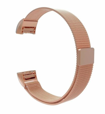 Fitbit Charge 2 milanese bandje - Maat: Small - Champagne goud