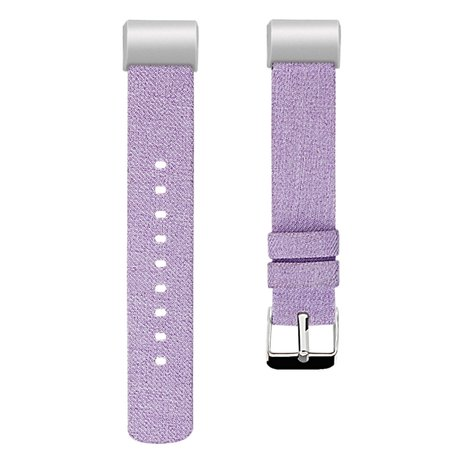 Fitbit Charge 2 Canvas bandje - Maat: Large - Lila