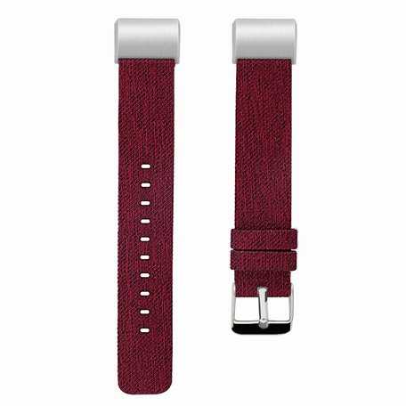 Fitbit Charge 2 Canvas bandje - Maat: Large - Rood