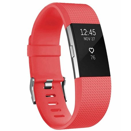 Fitbit Charge 2 sportbandje - Maat: Small - Roze / Rood