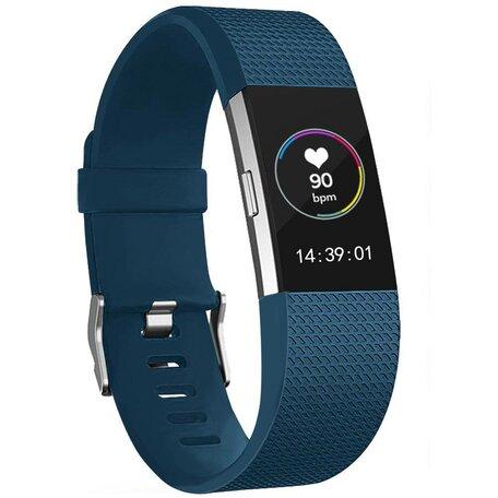 Fitbit Charge 2 sportbandje - Maat: Small - Donkerblauw