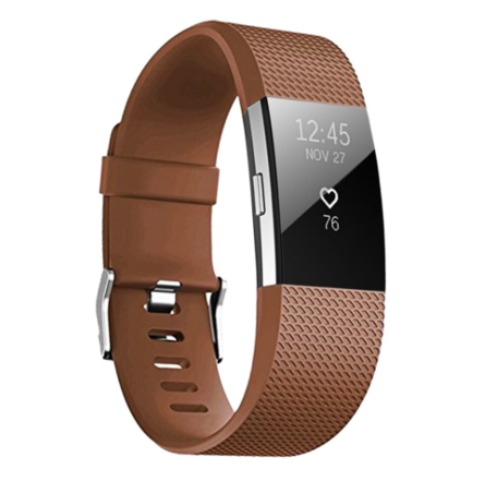 Fitbit Charge 2 sportbandje (Small) - Bruin