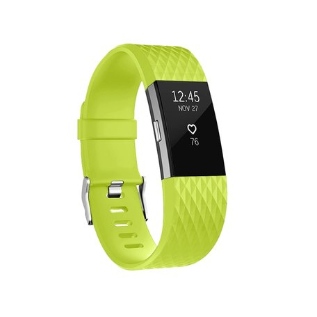 Fitbit Charge 2 siliconen bandje - Maat: Small - Groen