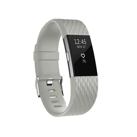 Fitbit Charge 2 siliconen bandje - Maat: Small - Grijs
