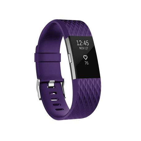 Fitbit Charge 2 siliconen bandje - Maat: Small - Paars