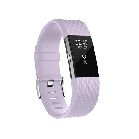 Fitbit Charge 2 siliconen bandje - Maat: Small - Lila