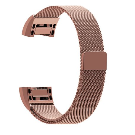 Fitbit Charge 2 milanese bandje - Maat: Small - Rosé goud