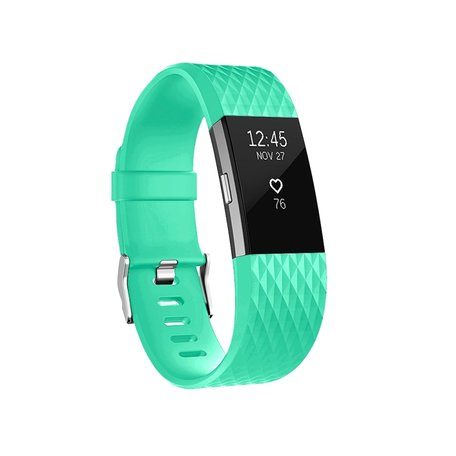 Fitbit Charge 2 siliconen bandje (Large) - Mintgroen