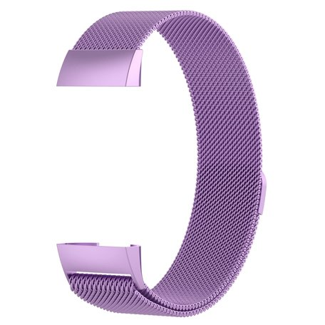 Fitbit Charge 3 & 4 milanese bandje (small) - Lichtpaars