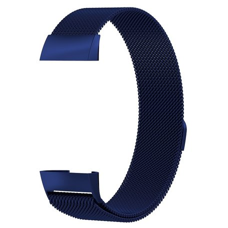 Fitbit Charge 3 & 4 milanese bandje (large) - Donkerblauw