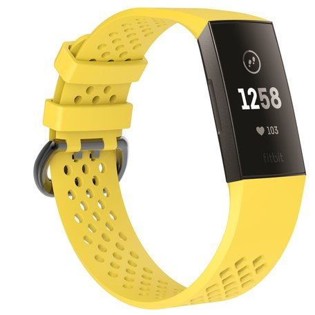 Fitbit Charge 3 & 4 sport bandje (large) - Geel