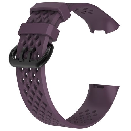 Fitbit Charge 3 & 4 sport bandje (large) - Paars