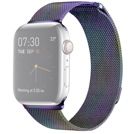 Milanees Apple watch bandje 42mm / 44mm RVS - Colour