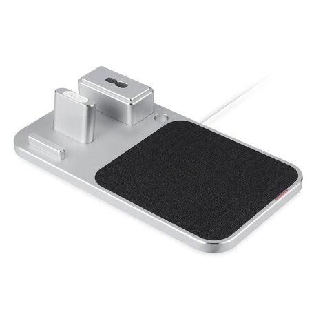 3 in 1 oplader geschikt voor Apple Pencil & AirPods & iPhone - Zilver