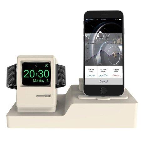 3 in 1 houder geschikt voor de Apple Watch & Airpods & iPhone - Beige