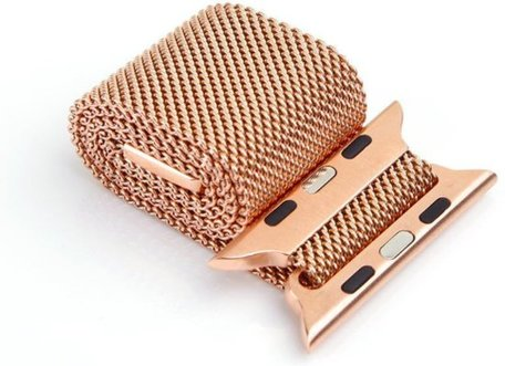 Milanees Apple watch bandje 38mm / 40mm RVS - Champagne goud