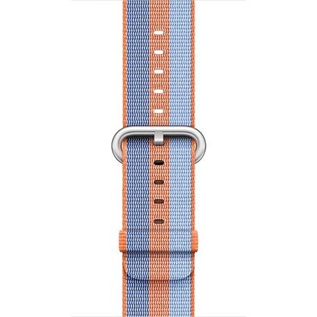 Nylon Apple watch 42mm / 44mm bandje - Oranje / Blauw
