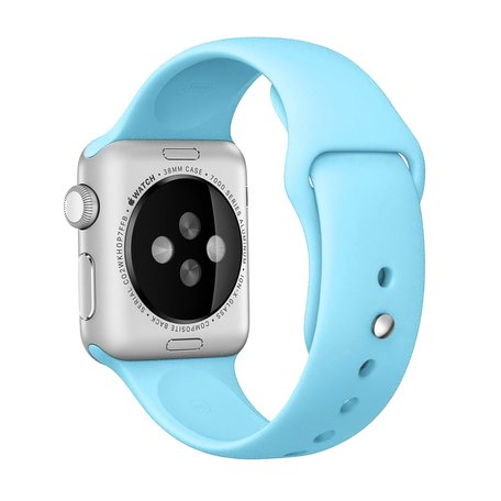 Apple watch 38mm / 40mm rubberen sport bandje - Baby blauw