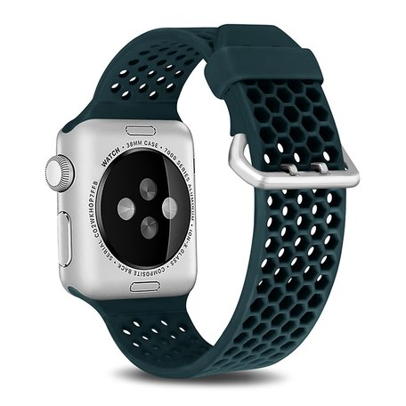 Apple watch 42mm / 44mm bandje met gaatjes - Groen
