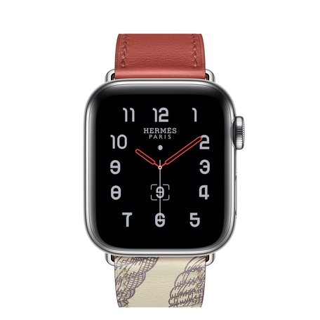 Apple watch 38/40mm leren band met print - rood