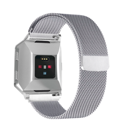 Fitbit Ionic Milanese Bandje (Small) - Zilver
