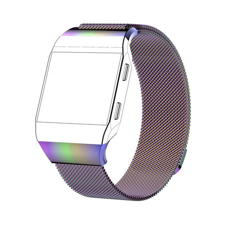 Fitbit Ionic Milanese Bandje (Large) - Multicolor