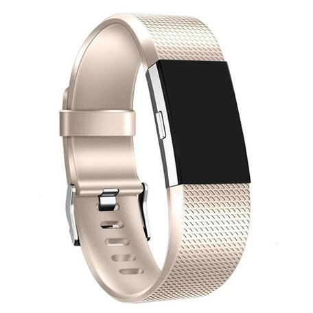 Fitbit Charge 2 sportbandje - Maat: Large - Champagne Goud