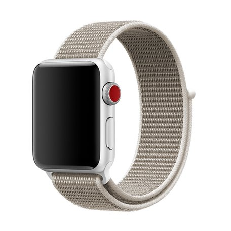 Apple Watch bandje 38mm / 40mm - Sport Loop bandje - Licht grijs