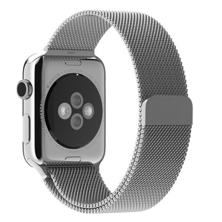 Milanees Apple watch bandje 38mm / 40mm RVS - Zilver