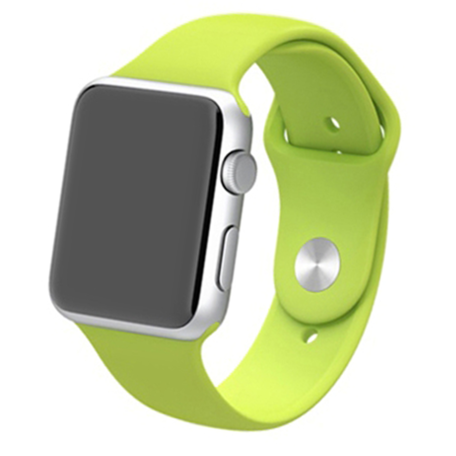 Apple watch 42mm / 44mm rubberen bandje sport - Groen