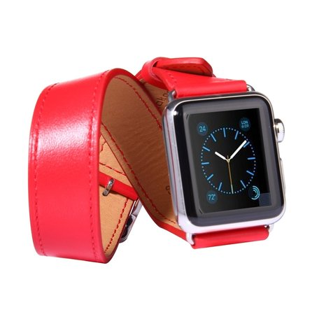 Apple watch 42mm / 44mm double strap - Rood