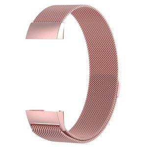 Fitbit Charge 3 & 4 milanese bandje (large)  - Rosé goud