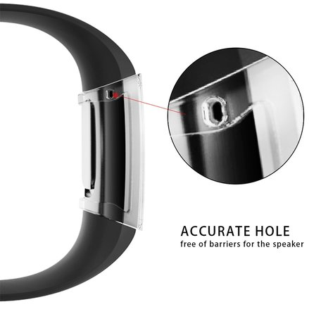 Fitbit Charge 3 & 4 Case (volledig beschermd) - Transparant