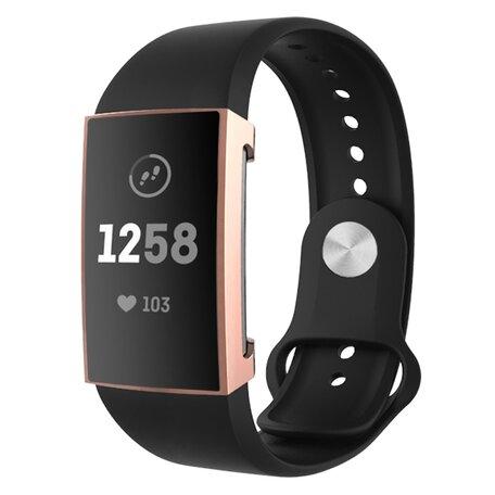 Fitbit Charge 3 &4 Case (volledig beschermd) - Rosegoud