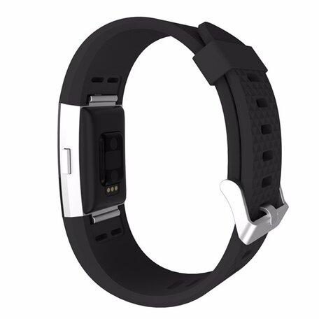Fitbit Charge 2 siliconen bandje (Large) - Zwart
