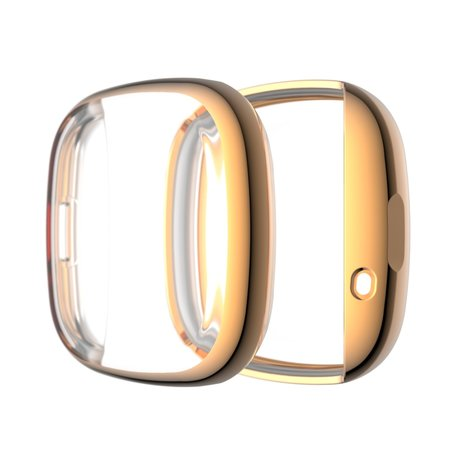 Fitbit Versa 3 / Sense Soft TPU case (volledig beschermd) - Rosé Goud