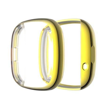 Fitbit Versa 3 / Sense Soft TPU case (volledig beschermd) - Goud