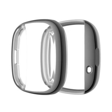 Fitbit Versa 3 / Sense Soft TPU case (volledig beschermd) - Grijs