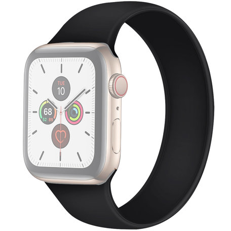Apple Watch 42/44mm - Maat: L - Solo Loop link series - zwart