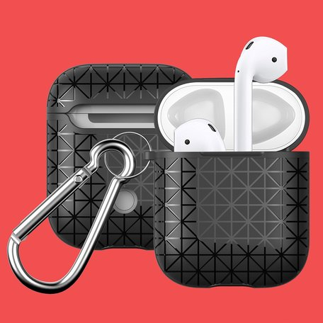 AirPods 1/2 hoesje triangle series - soft case - zwart