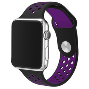 Apple watch sportbandje 38mm / 40mm - Paars + Zwart